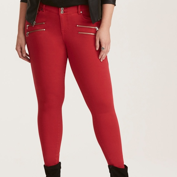 baf4618be27 Plus Size Red Jeggings